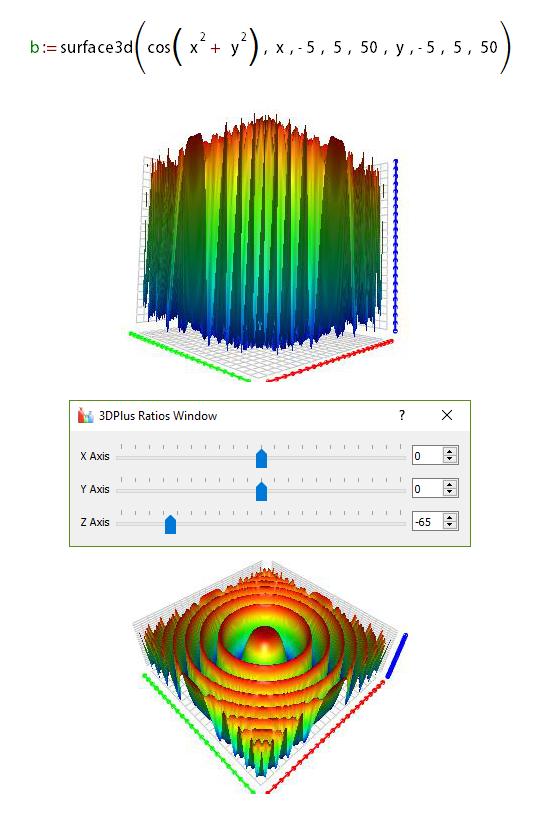 3D graph preview options
