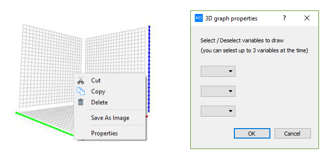 3D graph properties dialog