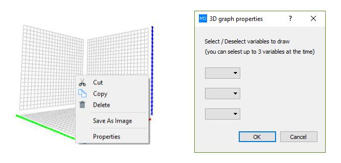 3D graph properties dialog