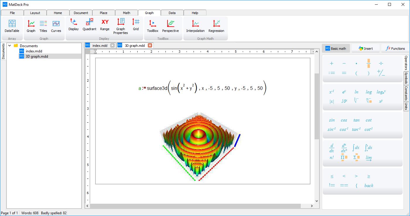 Creating 3D Graphs in MatDeck - MatDeck Lessons