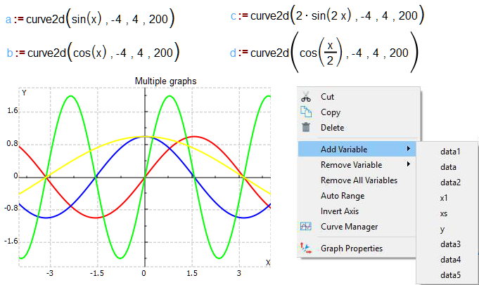 2D graph in MatDeck