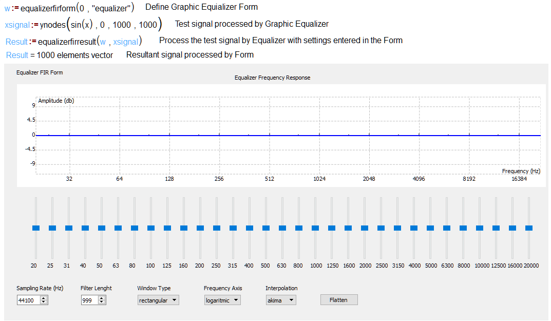 Graphic Equalizer Form