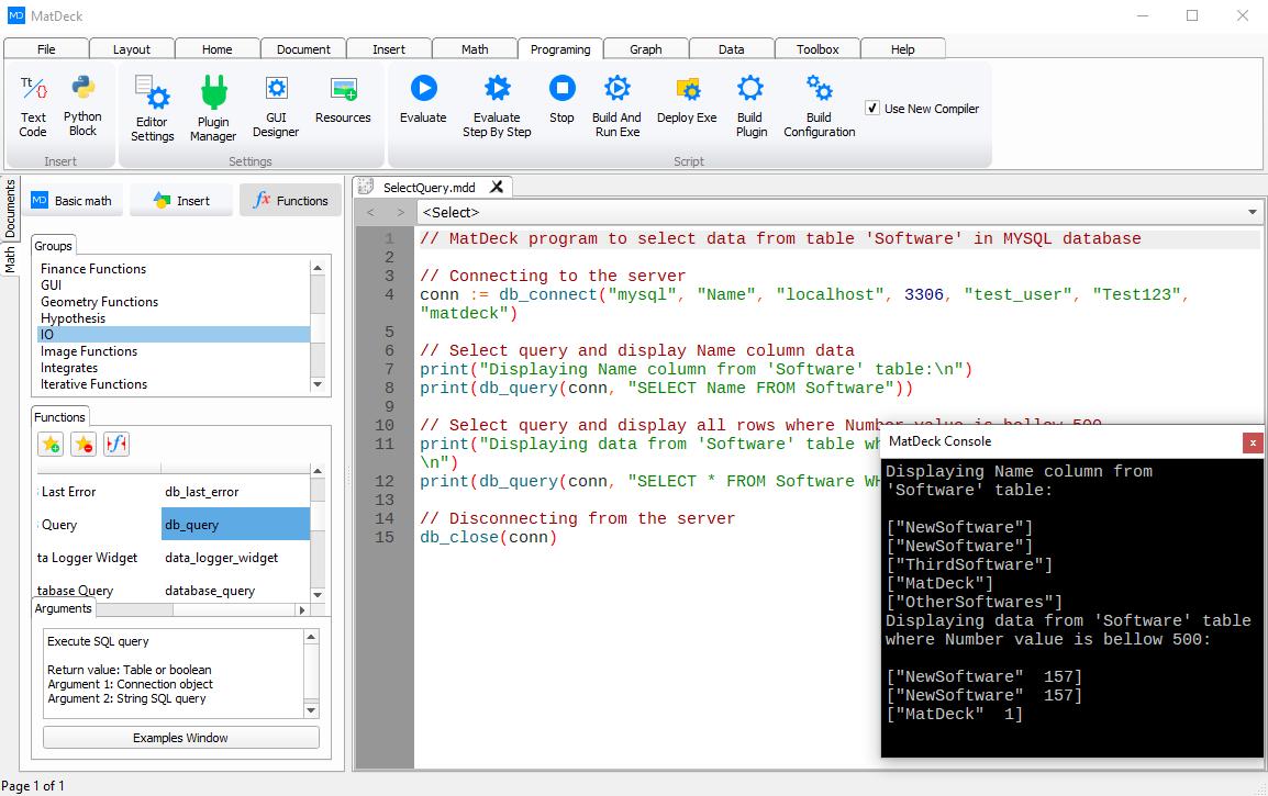 database script