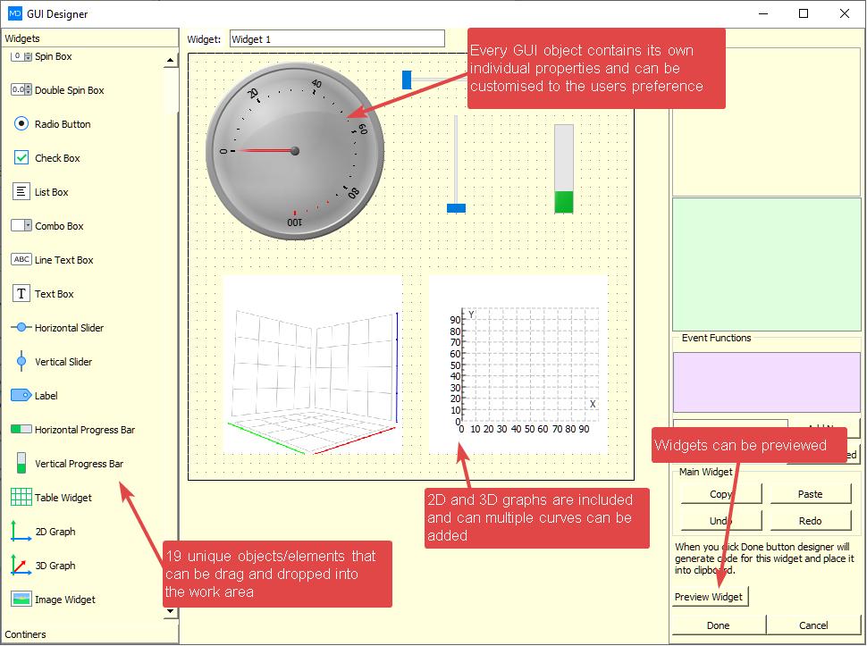 MatDeck Python GUI Designer example element