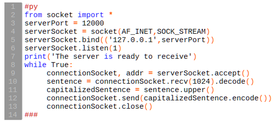 python client code