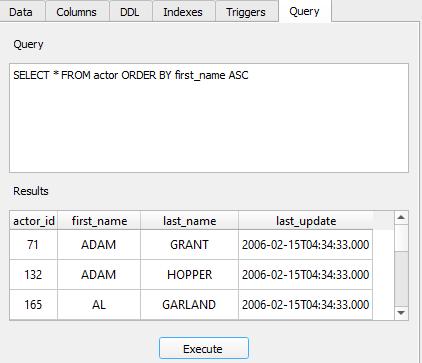 custom query execution