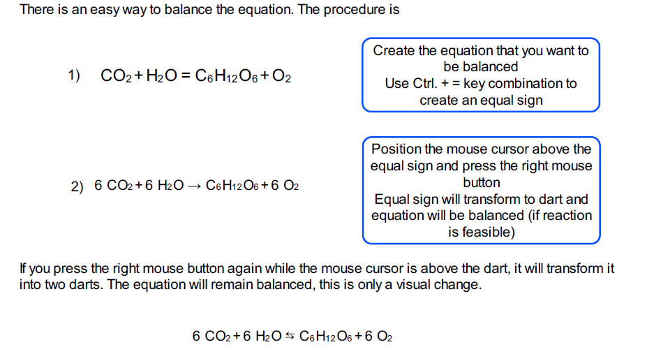 automatic chemical balancing of equations