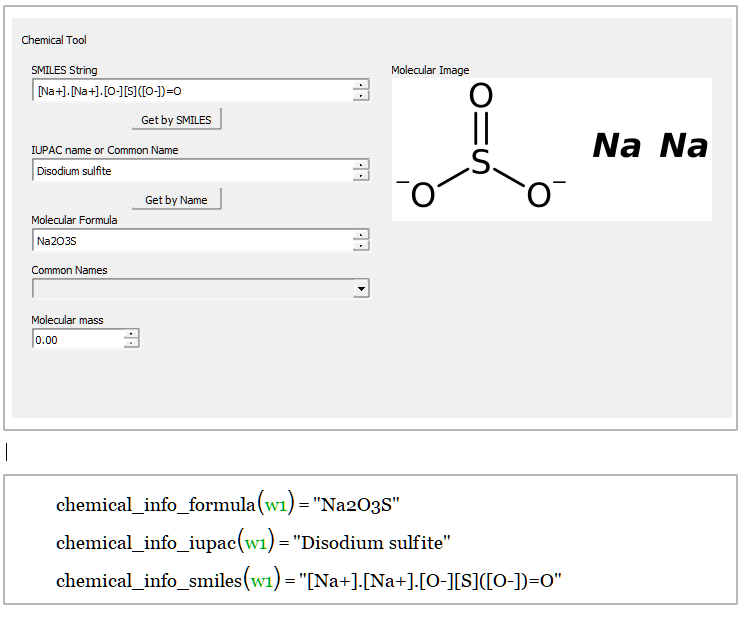 graphical chemical tool