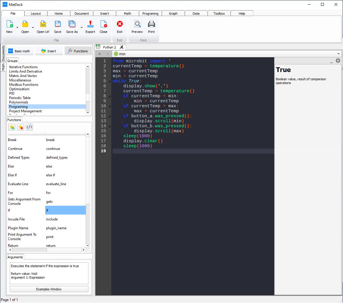 MatDeck Python IDE