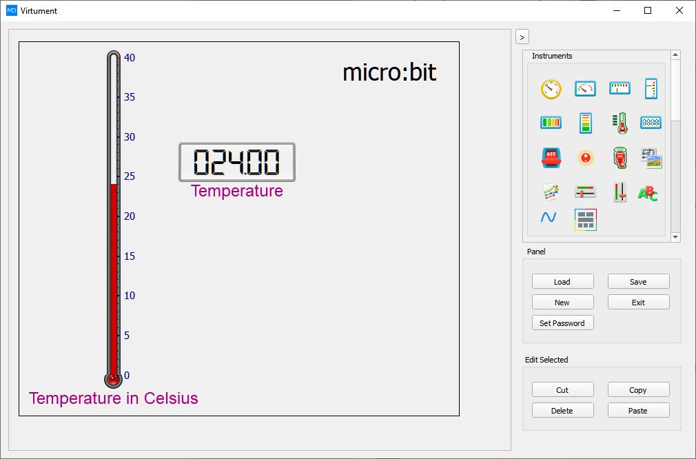 micro:bit temperature virtument matdeck
